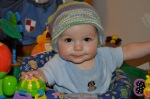Wearing Hand-Me-Down Hat from Paco: Made by Dr. Mary: Cousin #2
