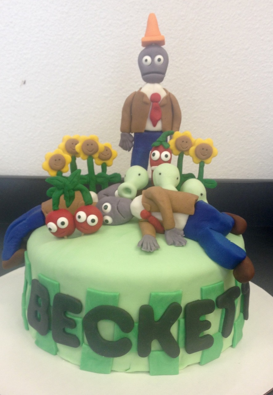 Beck Plays A Video Game Called Plants Vs Zombies So Lisa Had Former Colleague Make Cake With This Theme Amazing Barbara